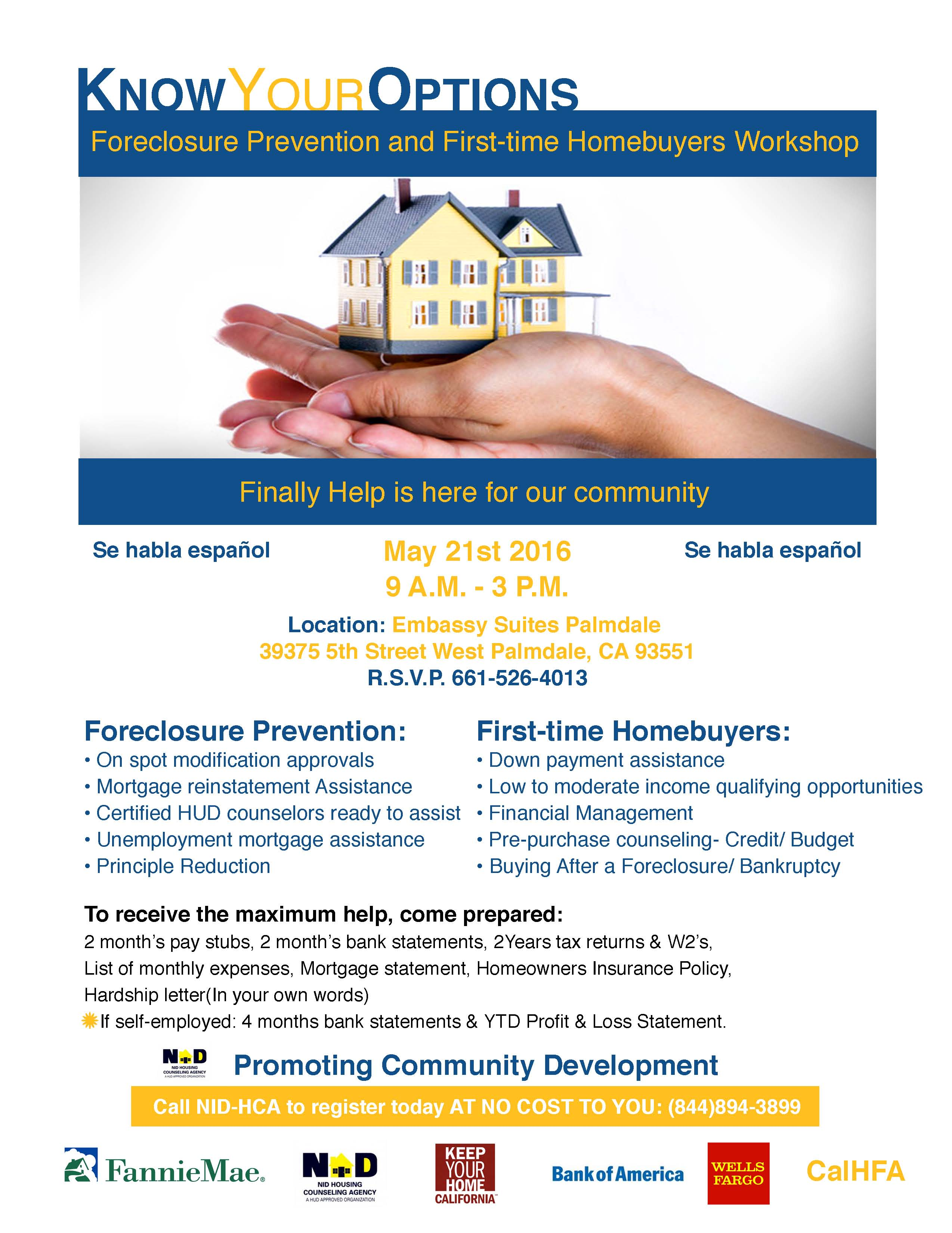 Foreclosure Prevention and 1st time Home ers Workshop Keep